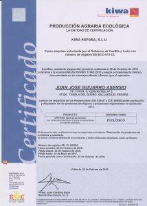 Certificado ecológico 1