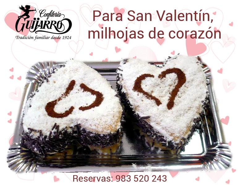 Milhojas de San Valentín
